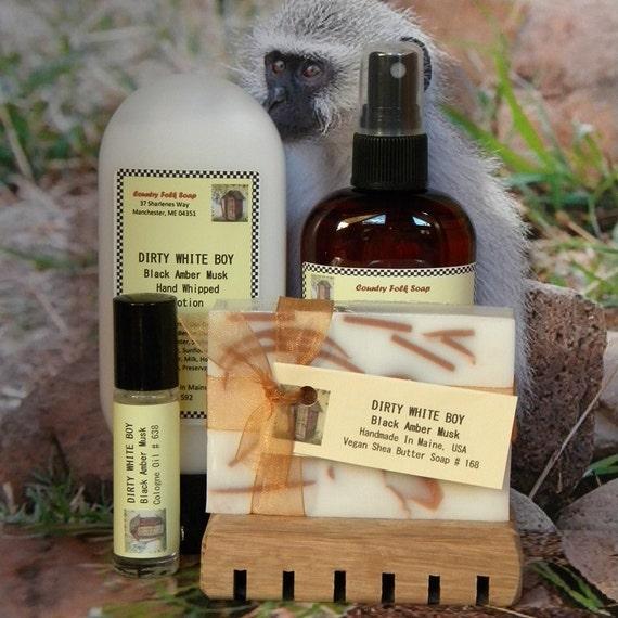 Birthday Gift For Boyfriend DIRTY WHITE BOY Mens Soap