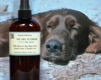 Dog Spray DOG SHEA AFTERNOON, Pet Grooming Spray, Dog Deodorizer, Bug Repellent Spray, Dog Perfume Spray