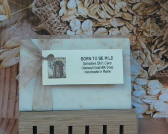 Oatmeal Soap BORN To Be MILD, Sensitive Skin Soap, All Natural Soap, Goat Milk Soap, Unscented Soap Bar,