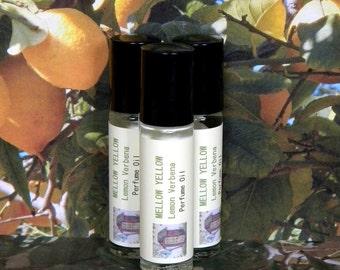 Lemon Verbena Perfume Oil, MELLOW YELLOW, Lemon Verbena Cologne Oil