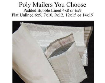 Shipping Bags, Bubble Mailers, Poly Mailers, Shipping Envelopes, 4x8 Bubble Mailers 6x9, Large Mailers 9x12, Large Mailers 14x19