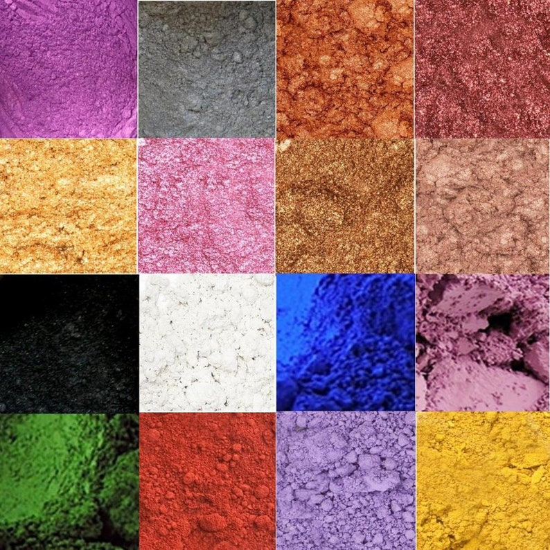 Cosmetic Mica Natural Pigment Powder For Soap Sample Set or image 0