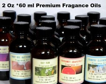Fragrance Oils, Candle Fragrance Oil, Soap Fragrance Oil, 2 Oz Fragrance Oil, Reed Diffuser Oil, Lavender, Vanilla, Coconut, Musk, Citrus