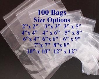 Clear Plastic Bags, Zip Lock Bags, Plastic Baggies, Reclosable, 2x2 Bags, 3x5 Bags, 4x4 Bags, 5x8 Bags. 6x6 Bags, 9x12 Bags, 8x8, 12x12 Bags
