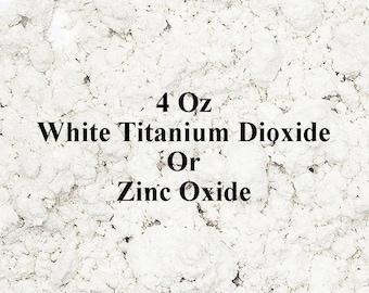 Zinc Oxide 4 Oz White Titanium Dioxide, White Pigment Powder For Homemade Mineral Makeup or Sunscreen