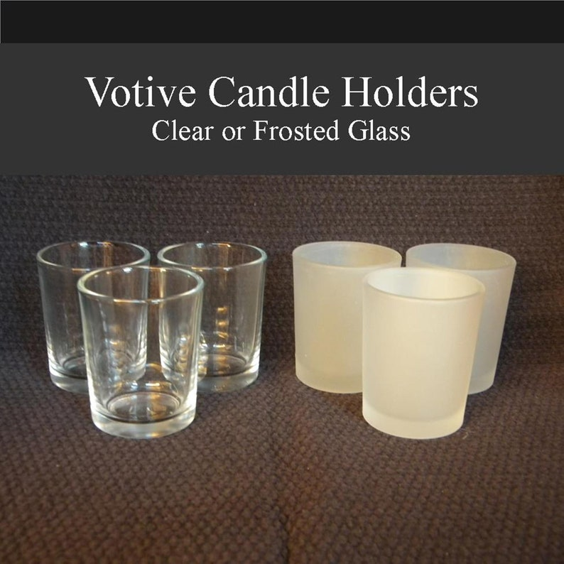 Votive Candle Holder Sets Free Shipping Clear Or Frosted Etsy