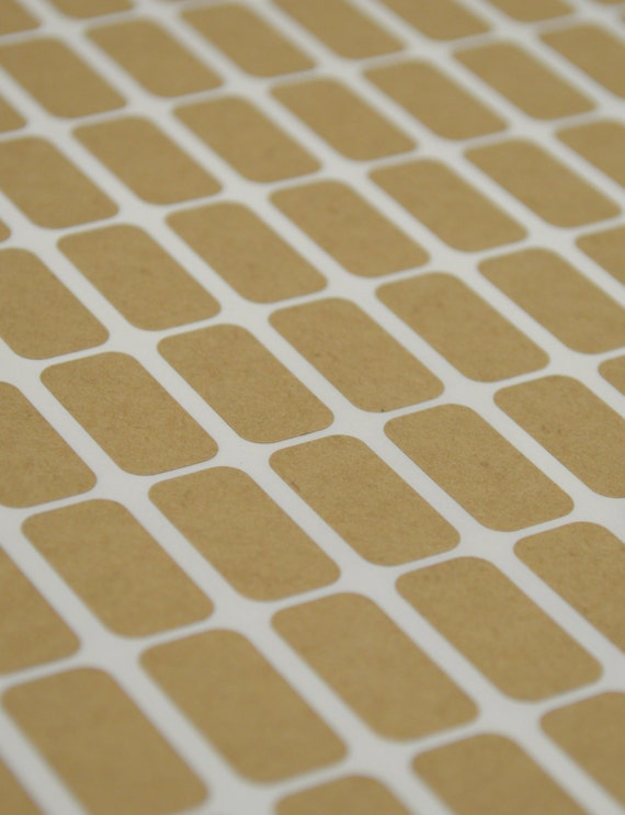 small rectangle brown kraft labels 1 2 x 1 inch sheet labels etsy