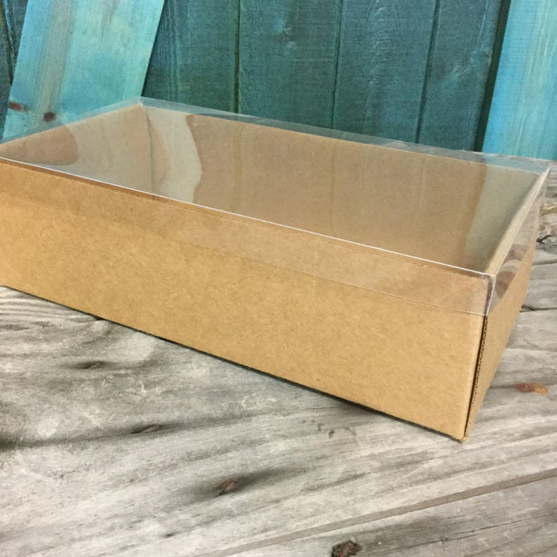 f08896a0c82 Heavy Kraft Cardboard Boxes set of 10 Clear Top Extra