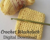 Dishcloth Pattern, DIY Kitchen Decor, Crochet Washcloth, Simple Crochet, Washcloth Pattern, DIY Dishcloth, Dishrag Pattern, Washrag PDF