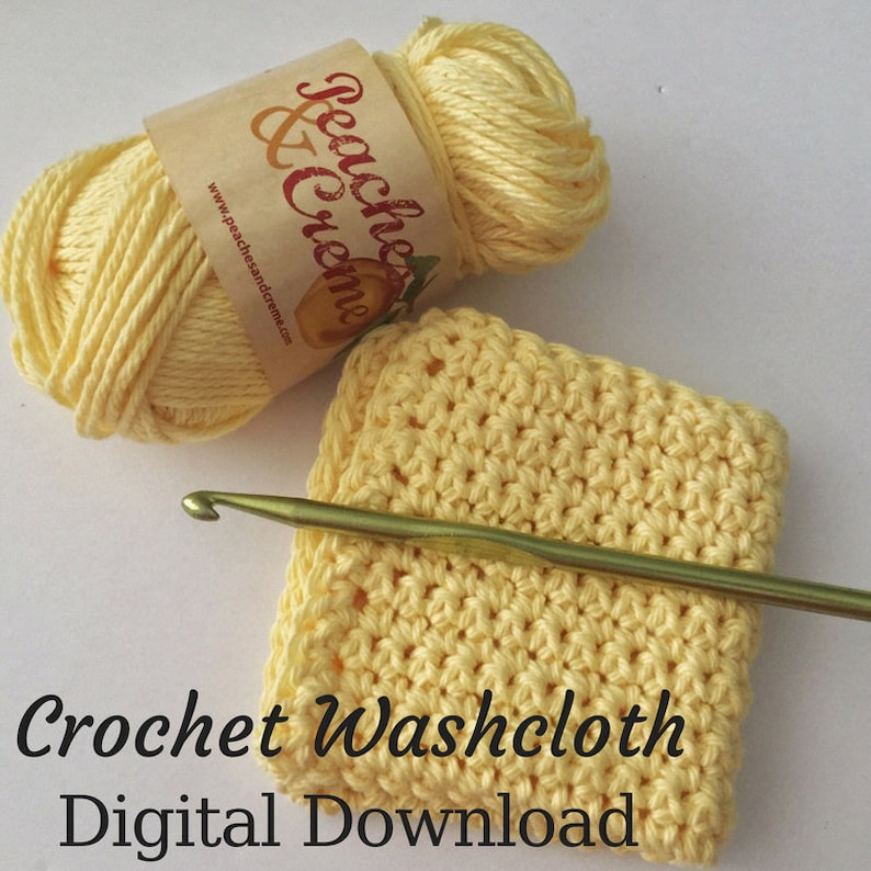 Dishcloth Pattern DIY Kitchen Decor Crochet Washcloth image 0