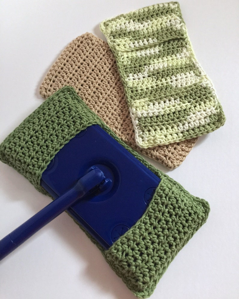 Swiffer Mop Cover, Crochet Dust Mop, Cleaning Products, Variegated Cotton,  All Purpose, Organic Cleaning, Zero Waste, Green Cleaning