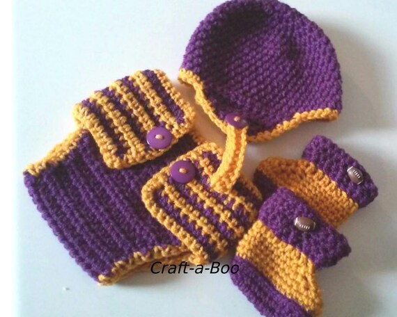 Crochet Baby Hat Football Helmet Team Color Baby Set Etsy