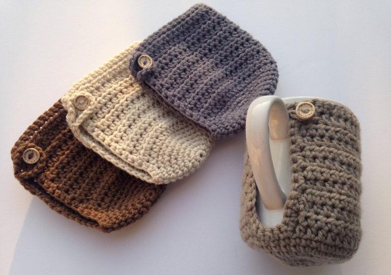 Coffee Mug Holder Crochet Mug Cozy Mug Warmer Coffee image 0