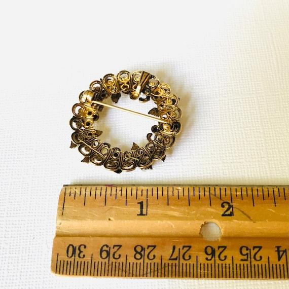 Vintage Pearl Wreath Brooch - image 2