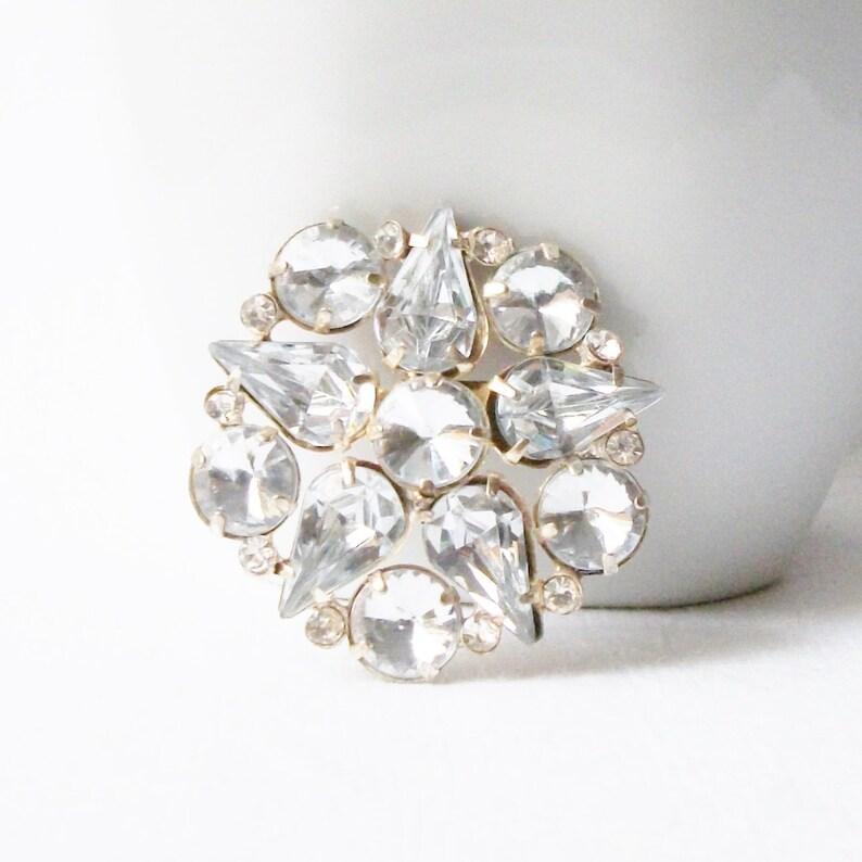 8641b12f030 Vintage Rhinestone Brooch Vintage Rhinestone Jewelry Clear | Etsy