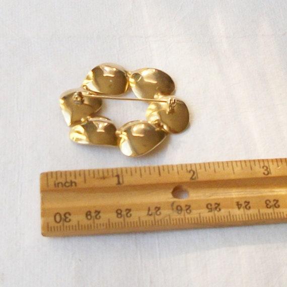 Vintage Pearl Brooch, Pearl Heart Brooch - image 3