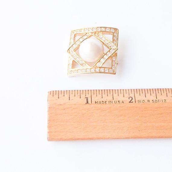 Vintage Pearl Brooch,  Pearl Pin - image 3