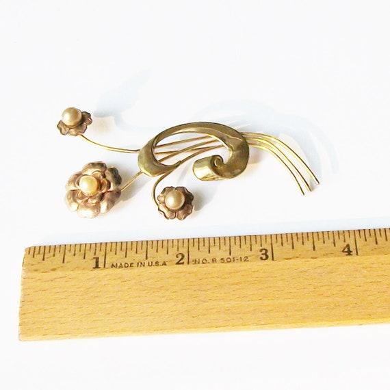 Vintage Pearl brooch, 1940 Pearl Jewelry - image 2