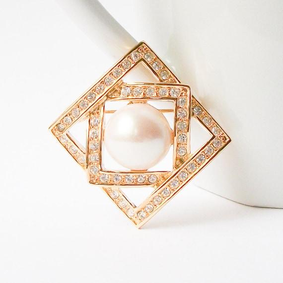 Vintage Pearl Brooch,  Pearl Pin - image 1