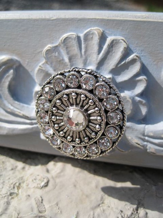 Great Clear Crystal Drawer Knobs   Crystal Knobs   Crystal Cabinet Knobs In  Silver (MK113S 01)