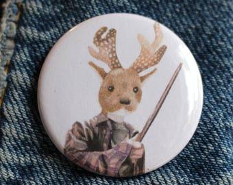 """Harry Potter's Stag Patronus Button - 1.5"""" Button - Pinback Button"""