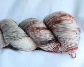 ROMANCE Speckled hand dyed super wash merino single sock (100 grams) 400 yds