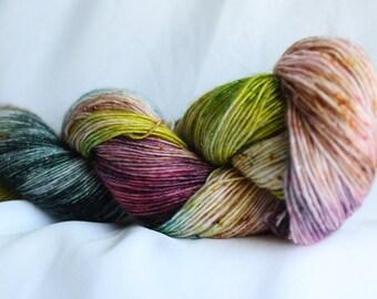 TRY ME- SPARKLE Merino single sock yarn speckled shawl, 100 grams 400 yards , knitting