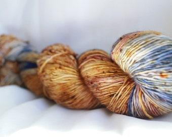 New Color way (JEWL-RIFIC) Speckled super wash merino nylon sock 100 grams 463 yds 75, 25 free shipping