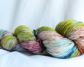 TRY ME - Hand dyed super wash merino single sock (100 grams) 400