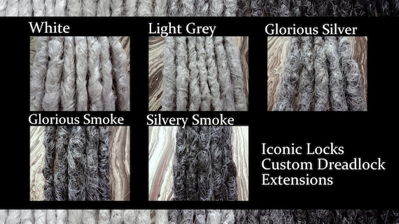 Grey Color Chart 1 Single Dread Gray Synthetic Dreads Etsy