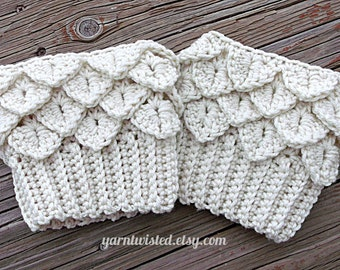 CROCHET PATTERN PDF Crocodile Tears Boot Cuffs - Instant Digital Download - Adult sized - Women - Teen - CaN SeLL finished items
