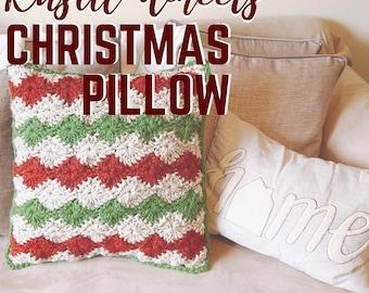 Rustic Wheels Christmas Pillow Crochet Pattern - Instant Digital Download PDF , Home Decor, Christmas Decor, Crochet Pattern, Modern Crochet