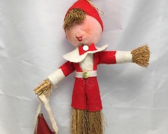 Natural Twigs Santa or Elf - Christmas Tree Ornament