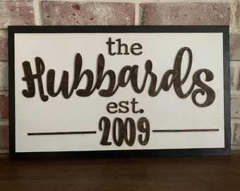 Door hanger / front door decor / last name sign / est sign / welcome sign / front porch sign/ personalized sign/ hello sign/ wood sign