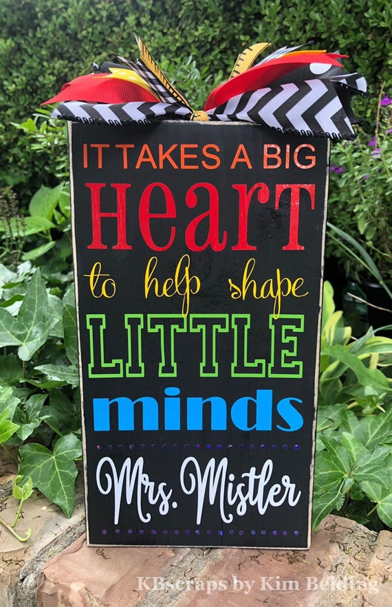 Personalized Teacher Classroom Sign | Teacher Appreciation | Teacher Gift