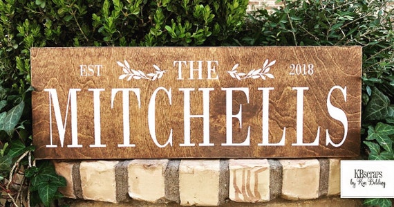 Family name sign | last name wood sign