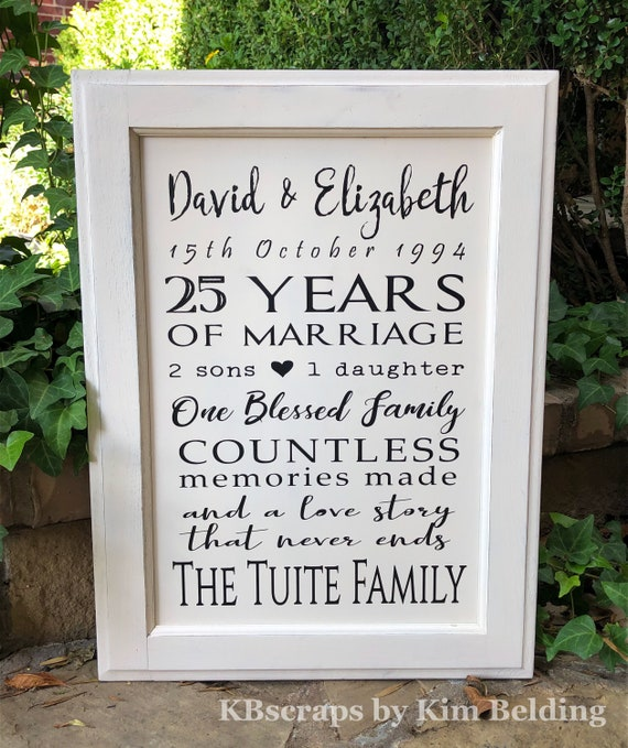 Anniversary sign | Personalized Wood Sign | Anniversary Gift | FREE SHIPPING!