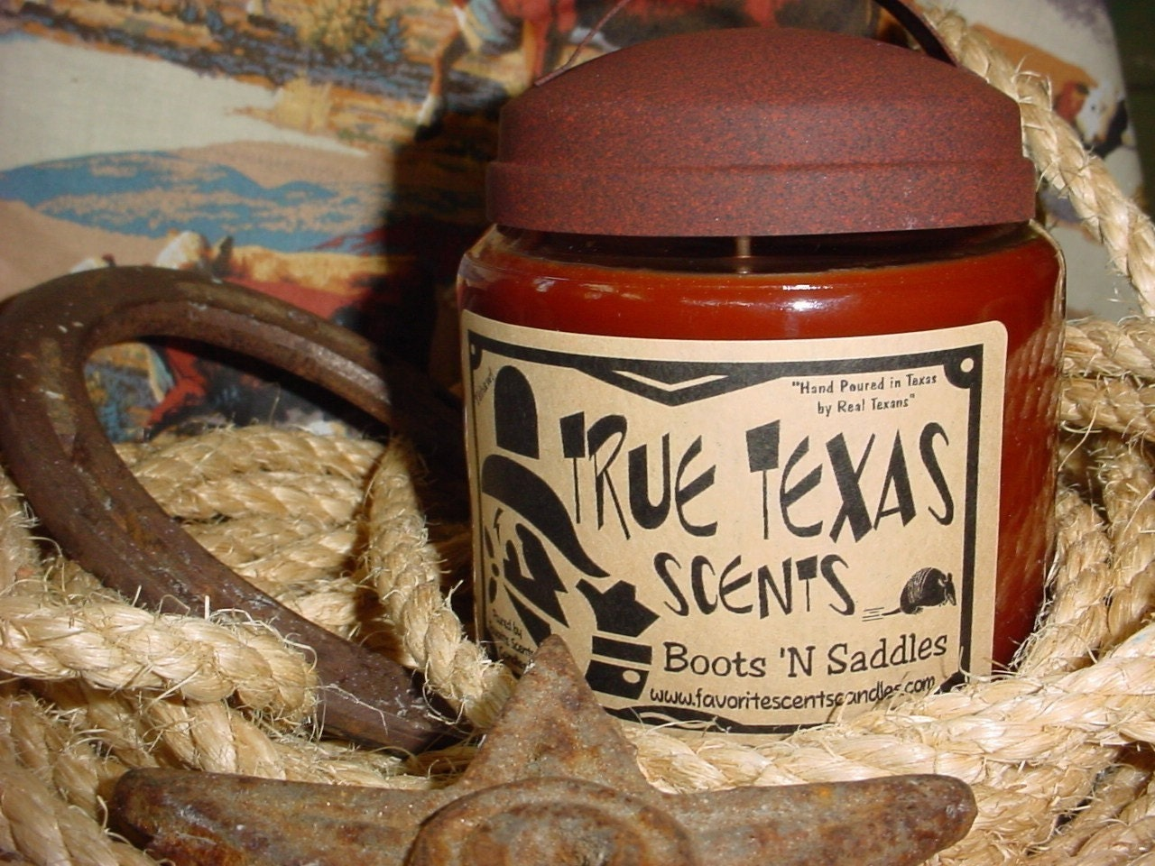 Leather Scented - Boots 'n Saddles -16 oz Western Cowboy Candle