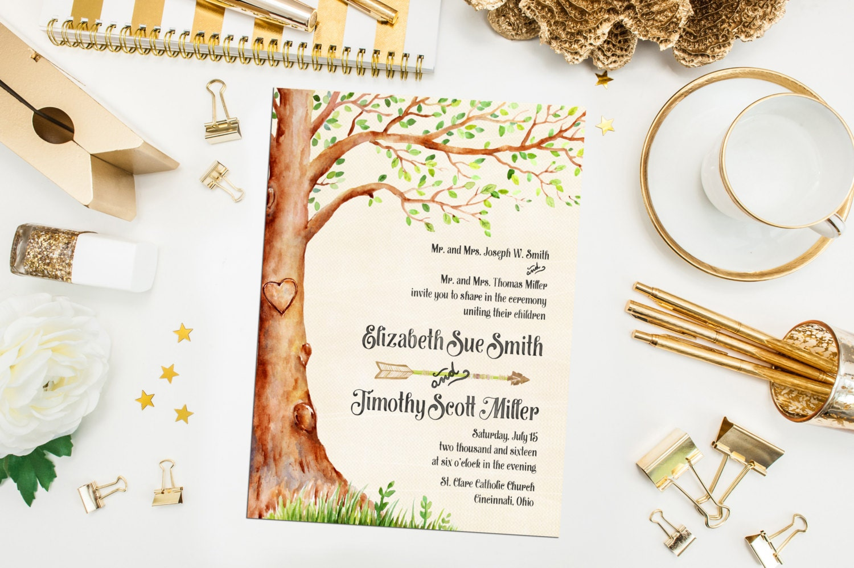 50: Tree Wedding Invitations Arrow At Reisefeber.org