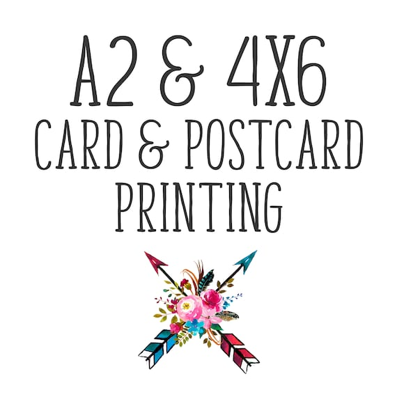 4x6 card postcard printing invitations announcements etsy