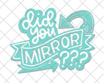 Did you mirror  cut file