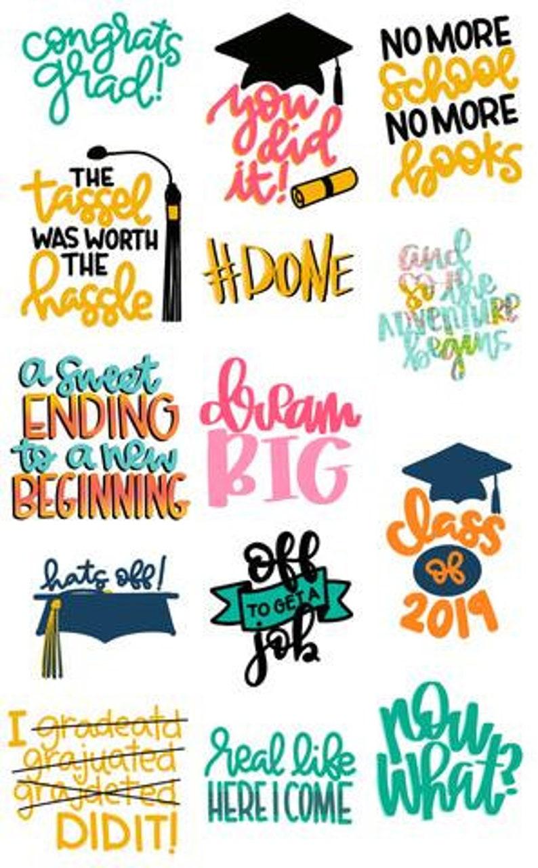 Graduation Cut file SVG bundle