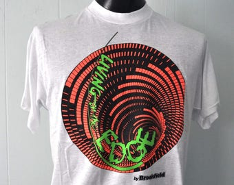 Unworn Vintage Neon TShirt Vertigo design by Brookfield Tee NOS Deadstock LARGE XL