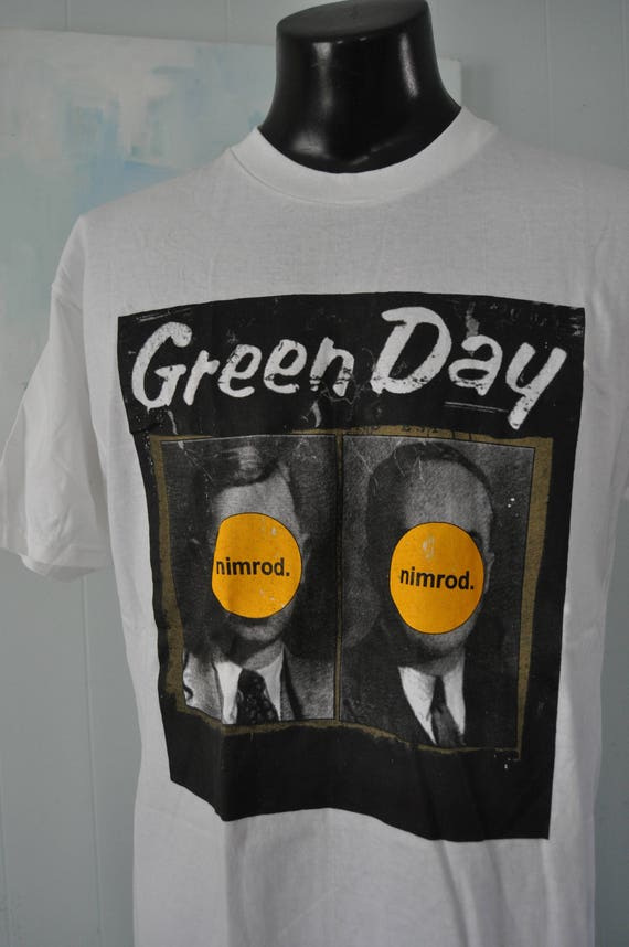 Tee Green TShirt Album Nimrod Day Vintage LARGE 1998 Tour WTq1f0vvA