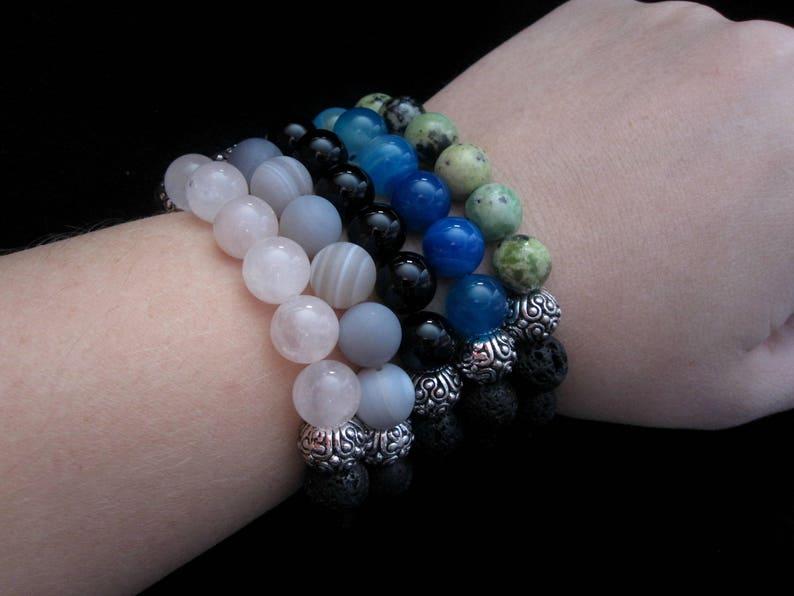 Diffuser Bracelet Diffuser Jewelry Lava Stone Jewelry Black Bracelet Jewelry Stretch Bracelet China Chrysoprase Lava Stone Bracelet