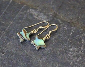 Abalone Star Earrings, Sterling Silver Abalone Earrings, Star Earrings, Star Jewelry, Abalone Earrings, Abalone Jewelry