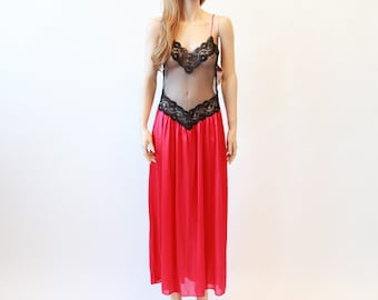 8753e2f1ce 80s sheer lace nighty
