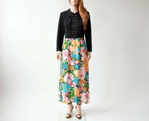 60s/70s mod maxi dress