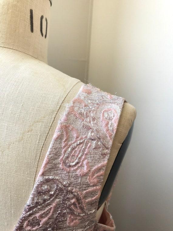 60s brocade maxi dress | pink sleeveless long dre… - image 5