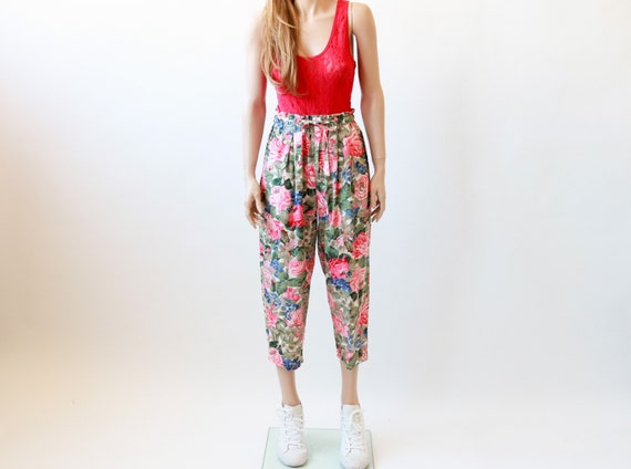 80s GAP floral pleated pants